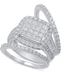 Macy's | Diamond 3-pc. Bridal Set (2-1/2 Ct. T.w.) In 14k White Gold | Lyst