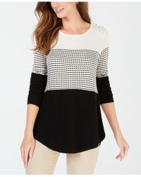 Charter Club - Colorblocked Pleated-back Top, Created For Macy's - Lyst