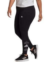 adidas - Essentials Stacked-logo Tights - Lyst