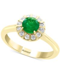 Effy Collection Effy® Emerald (3/4 Ct. T.w.) & Diamond (1/4 Ct. T.w.) Ring In 14k Gold - Green