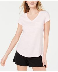 Maison Jules V-neck Patch-pocket T-shirt, Created For Macy's - Pink