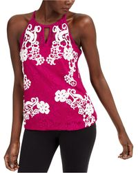 INC International Concepts Inc Sheer Lace Top, Created For Macy's - Pink