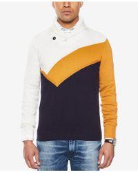 Sean John - Men's Colorblocked Shawl-collar Sweater - Lyst