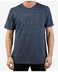 Neff Men's Box Logo-print T-shirt - Blue