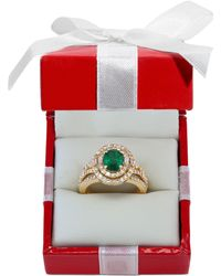 Effy Collection - Emerald (1-1/7 Ct. T.w.) And Diamond (1-1/7 Ct. T.w.) Ring In 14k Gold - Lyst