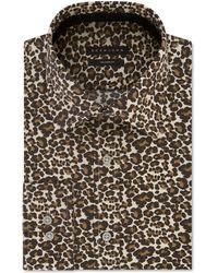 Sean John Classic/regular Fit Print Dress Shirt - Multicolor