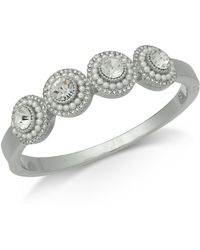 Charter Club - Silver-tone Crystal & Imitation Pearl Cluster Bangle Bracelet, Created For Macy's - Lyst