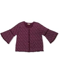 Style & Co. Lantern Sleeve Blouse, Created For Macy's - Purple