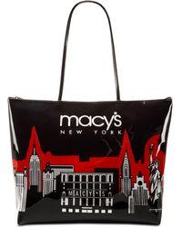 Macy's | City Glitter Zip Totes | Lyst
