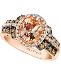 Le Vian - Morganite (1-3/8 Ct. T.w.) And Diamond (1/2 Ct. T.w.) Ring In 14k Rose Gold - Lyst