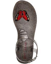 Betsey Johnson Tabby Butterfly Flat Jelly Sandal - Black
