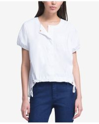 DKNY - Eyelet-inset Top, Created For Macy's - Lyst
