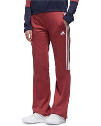 adidas New Authentic 3-stripe Wide-leg Track Pants - Red