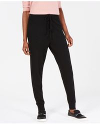 Charter Club Pure Cashmere Jogger Pants, In Regular & Petite Sizes, Created For Macy's - Black