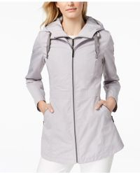 Laundry by Shelli Segal - Cinched-waist Hooded Anorak With Bib - Lyst