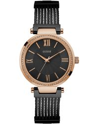 Guess - Women's Black Stainless Steel G-link Bracelet Watch 36mm U0638l5 - Lyst