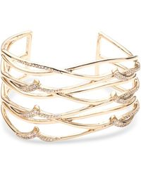 Carolee - Gold-tone Pavé Openwork Cuff Bracelet - Lyst
