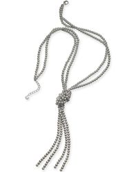 "Charter Club - Colored Imitation Pearl Knotted Lariat Necklace, 28"" + 2"" Extender, Created For Macy's - Lyst"