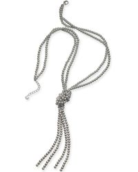 """Charter Club - Colored Imitation Pearl Knotted Lariat Necklace, 28"""" + 2"""" Extender, Created For Macy's - Lyst"""