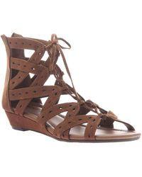 Madeline Girl Finesse Wedge Sandals - Brown