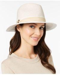Vince Camuto - Tweed Panama Hat - Lyst
