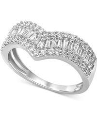 Macy's - Diamond V Statement Ring (5/8 Ct. T.w.) In 14k White Gold - Lyst