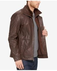 Cole Haan - Men's Leather Bomber Jacket - Lyst