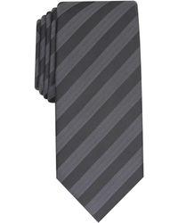Alfani Slim Stripe Tie, Created For Macy's - Black