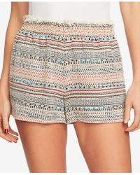 1.STATE - Frayed Tweed Paperbag Shorts - Lyst