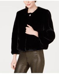 Maison Jules - Faux-fur Coat, Created For Macy's - Lyst