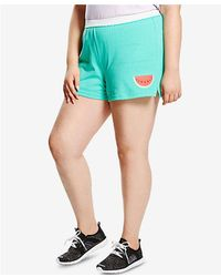 3220e7f8db844 Soffe - Plus Size Graphic-print Active Shorts - Lyst