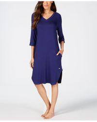 Sesoire Long Knit Nightgown - Blue