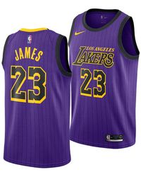 303ae433a86 Nike - Lebron James Los Angeles Lakers City Swingman Jersey 2018 - Lyst