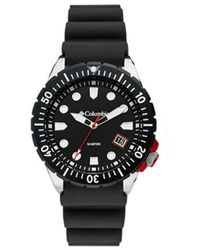 Columbia Pacific Outlander Black Silicone Strap Watch 42mm