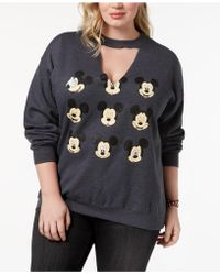 Hybrid | Plus Size Mickey Mouse Faces Sweatshirt | Lyst