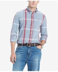 2eaf294a Lyst - Tommy Hilfiger Alexander Striped Custom-Fit Non Iron Shirt in ...