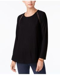 Style & Co. - Crochet-trim Thermal Tunic - Lyst