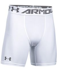 Under Armour Men's Compression Shorts - White