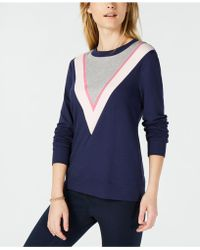 Maison Jules - Colorblock Chevron Sweatshirt, Created For Macy's - Lyst