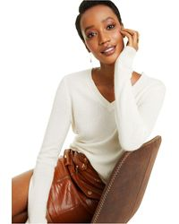Charter Club Petite V-neck Cashmere Sweater, Created For Macy's - Multicolour