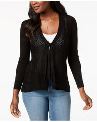 Style & Co. - Petite Tie-front Cardigan, Created For Macy's - Lyst