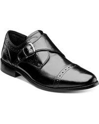 Nunn Bush - Newton Brogue Monk Strap Shoes - Lyst