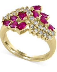 Effy Collection | Ruby (1-1/8 Ct. T.w.) And Diamond (1/3 Ct. T.w.) Ring In 14k Gold | Lyst
