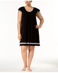 Ellen Tracy - Plus Size Yours To Love Short Sleeves Nightgown - Lyst