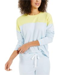 Style & Co. Colorblocked Sweatshirt, Created For Macy's - Blue