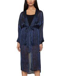 BCBGMAXAZRIA Snake-embossed Kimono - Blue