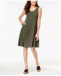 Style & Co. - Petite Striped A-line Dress, Created For Macy's - Lyst