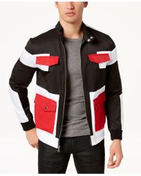 INC International Concepts - Colorblocked Full-zip Bomber Jacket, Created For Macy's - Lyst