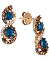 Le Vian - Blueberry Sapphiretm (1-1/8 Ct. T.w.) & Diamond (1/2 Ct. T.w.) Drop Earrings In 14k Rose Gold - Lyst