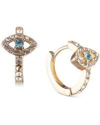 Lonna & Lilly Gold-tone Evil Eye Huggie Hoop Earrings - Blue